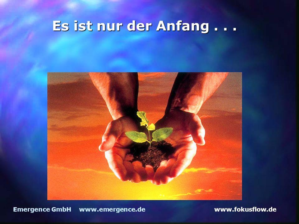 Es ist nur der Anfang . . . Emergence GmbH www.emergence.de