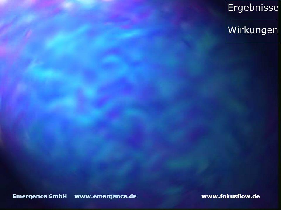 Ergebnisse Wirkungen Emergence GmbH www.emergence.de