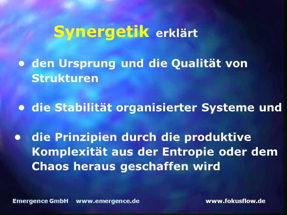 Synergetik erklärt • den Ursprung und die Qualität von Strukturen