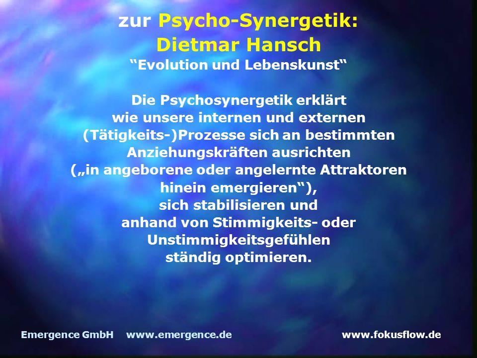 zur Psycho-Synergetik: Dietmar Hansch