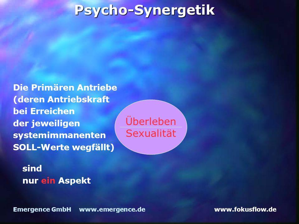 Psycho-Synergetik Überleben Sexualität Die Primären Antriebe