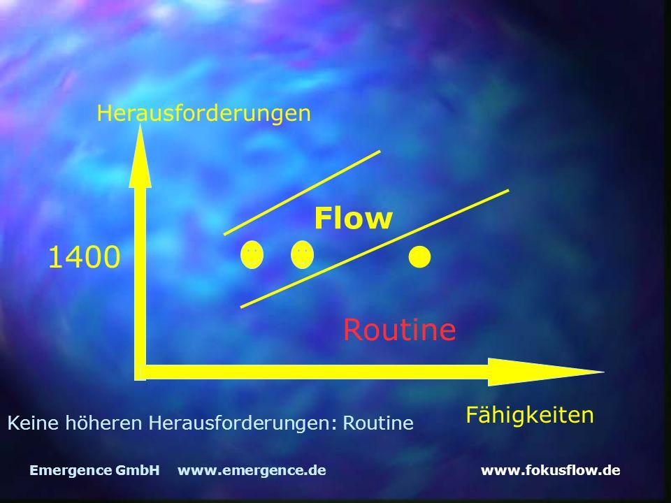 • Flow 1400 Routine Herausforderungen Fähigkeiten