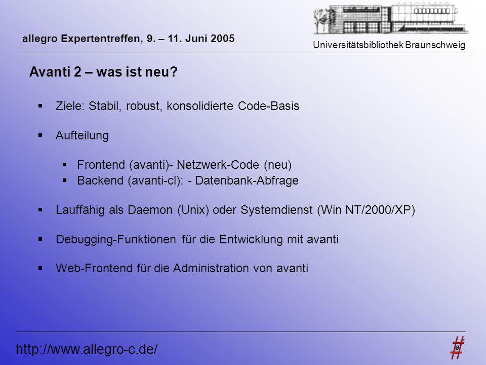 Avanti 2 – was ist neu http://www.allegro-c.de/