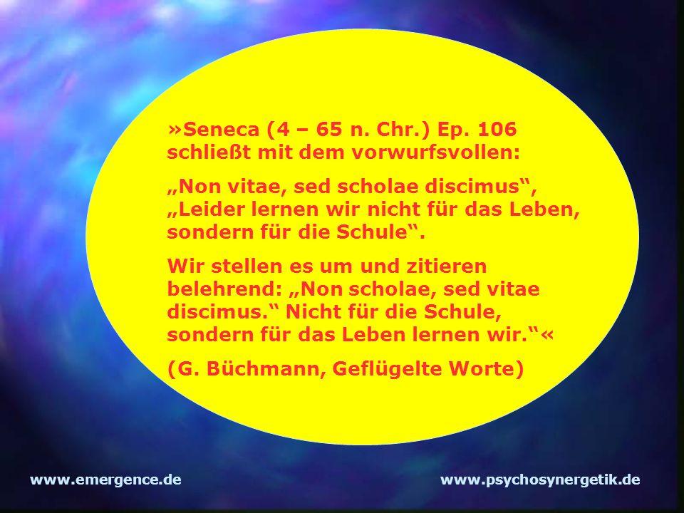 »Seneca (4 – 65 n. Chr.) Ep. 106 schließt mit dem vorwurfsvollen: