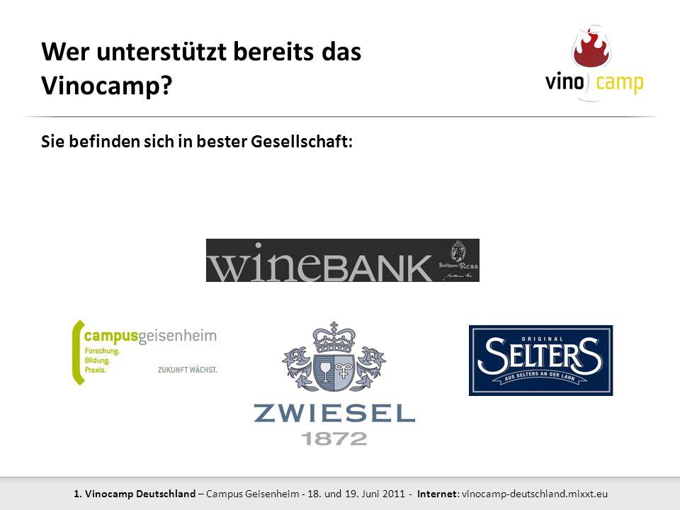 Wer unterstützt bereits das Vinocamp