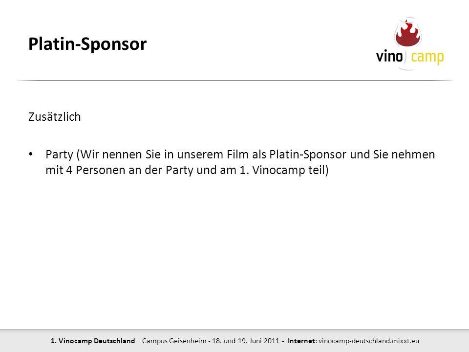 Platin-Sponsor Zusätzlich