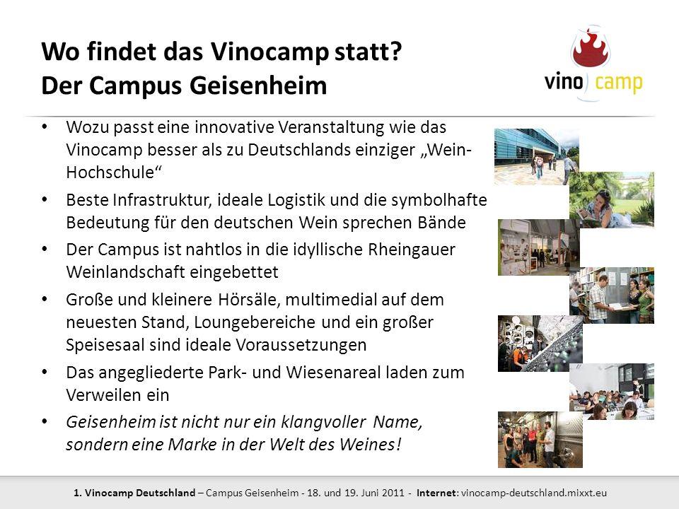 Wo findet das Vinocamp statt Der Campus Geisenheim