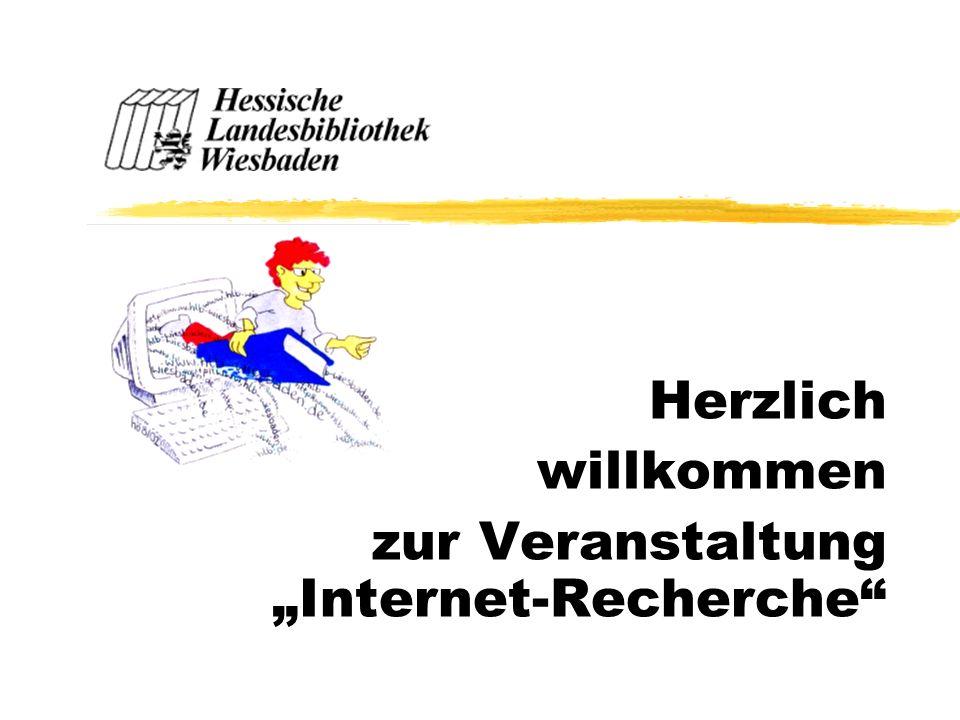 """Herzlich willkommen zur Veranstaltung """"Internet-Recherche"""