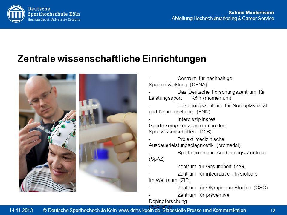Zentrale wissenschaftliche Einrichtungen