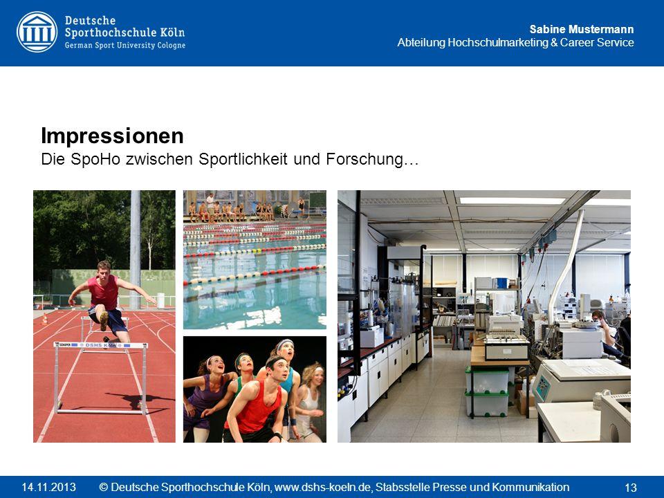 Impressionen Die SpoHo zwischen Sportlichkeit und Forschung…