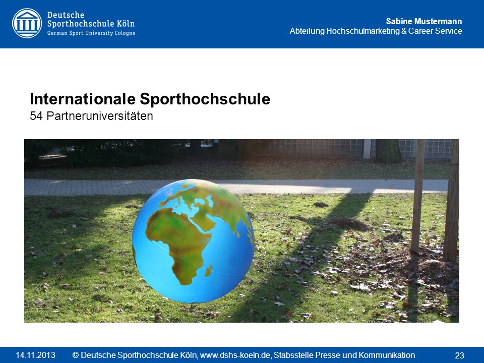 Internationale Sporthochschule 54 Partneruniversitäten