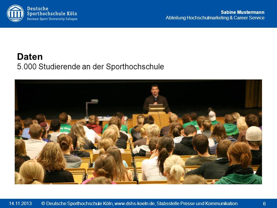 Daten 5.000 Studierende an der Sporthochschule