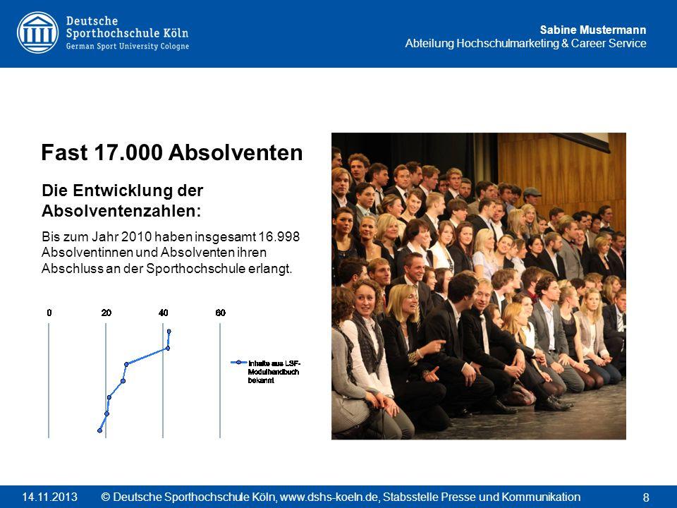 Fast 17.000 Absolventen Die Entwicklung der Absolventenzahlen: