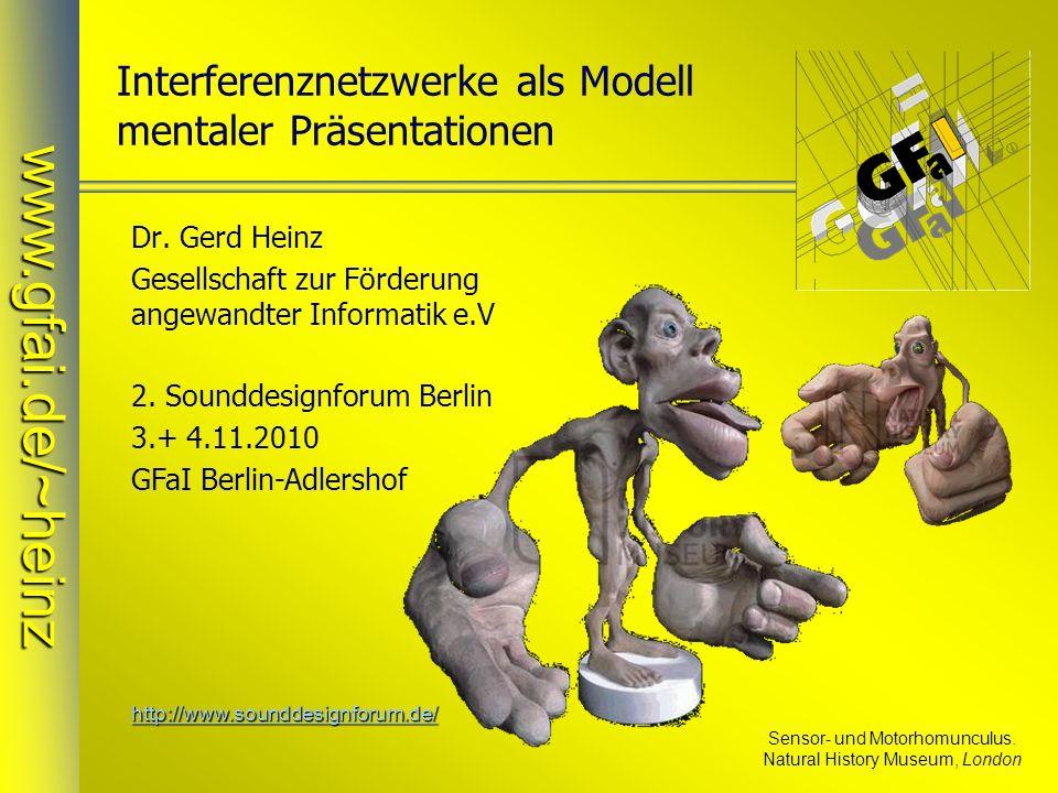 Interferenznetzwerke als Modell mentaler Präsentationen