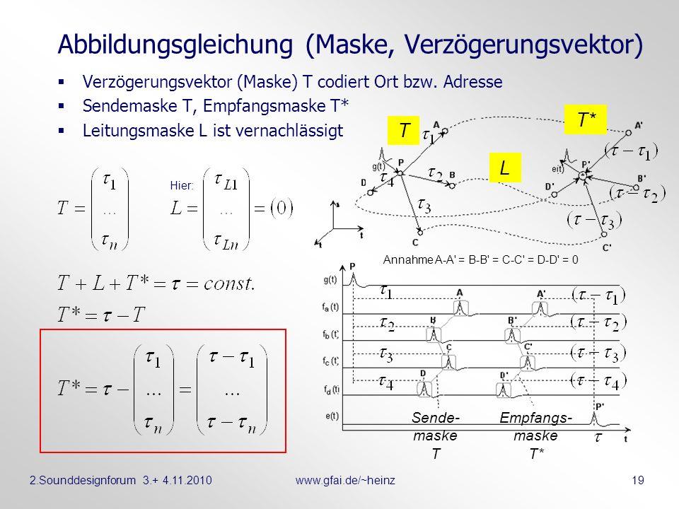 Abbildungsgleichung (Maske, Verzögerungsvektor)