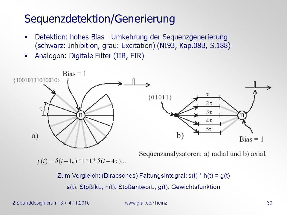 Sequenzdetektion/Generierung