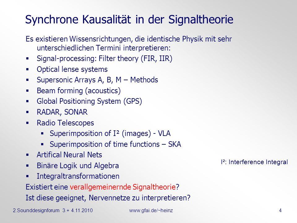 Synchrone Kausalität in der Signaltheorie