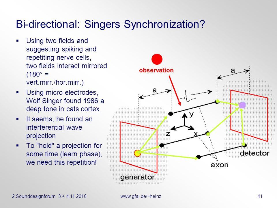 Bi-directional: Singers Synchronization