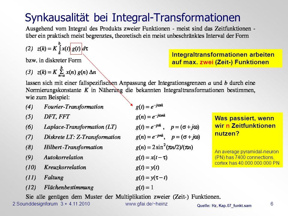 Synkausalität bei Integral-Transformationen