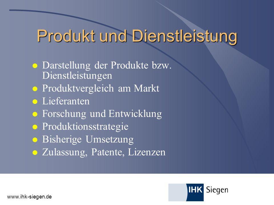Produkt und Dienstleistung