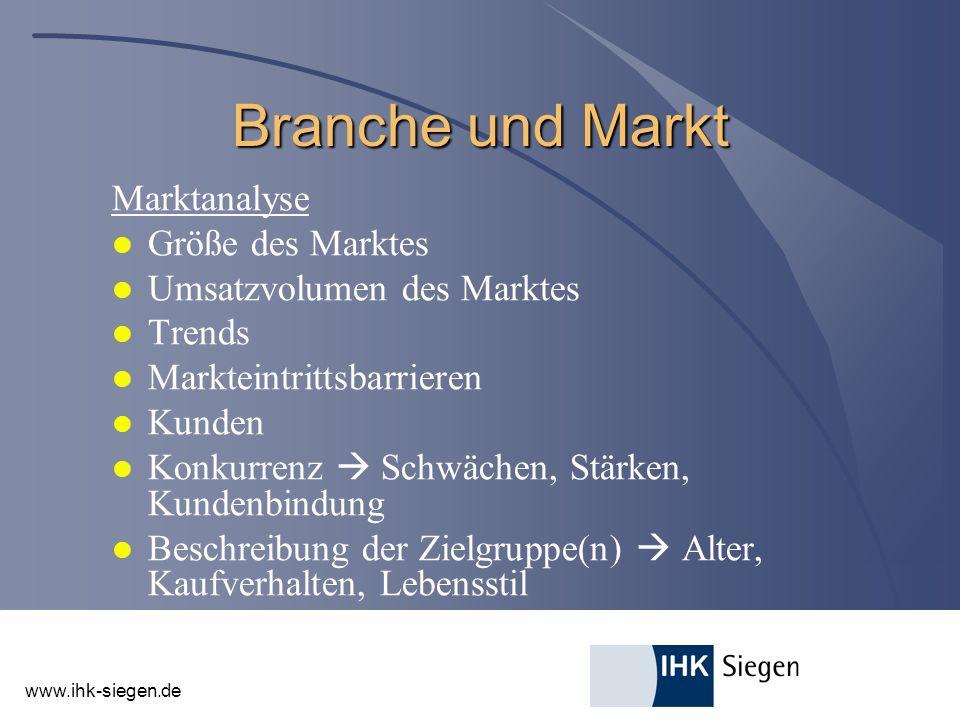 Branche und Markt Marktanalyse Größe des Marktes