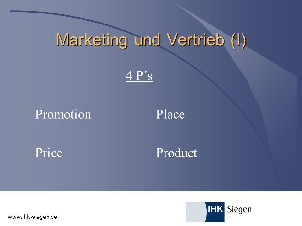 Marketing und Vertrieb (I)