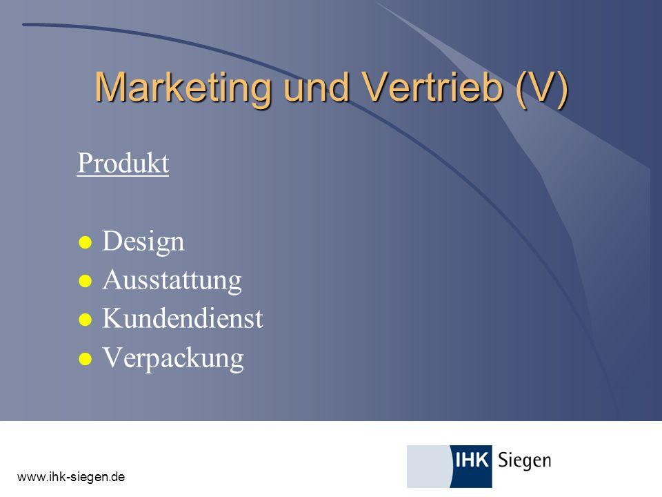 Marketing und Vertrieb (V)