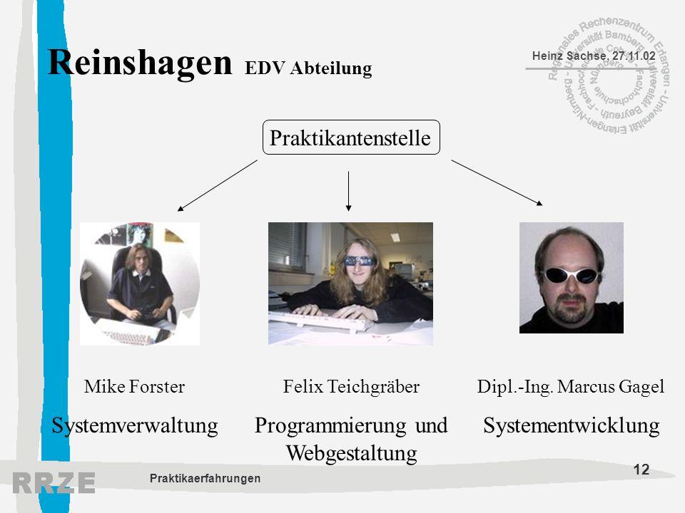 Reinshagen EDV Abteilung