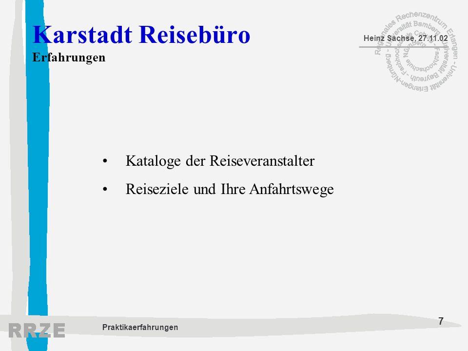 Karstadt Reisebüro Erfahrungen