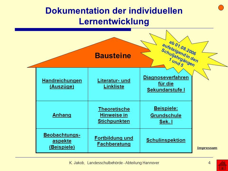 Dokumentation der individuellen Lernentwicklung