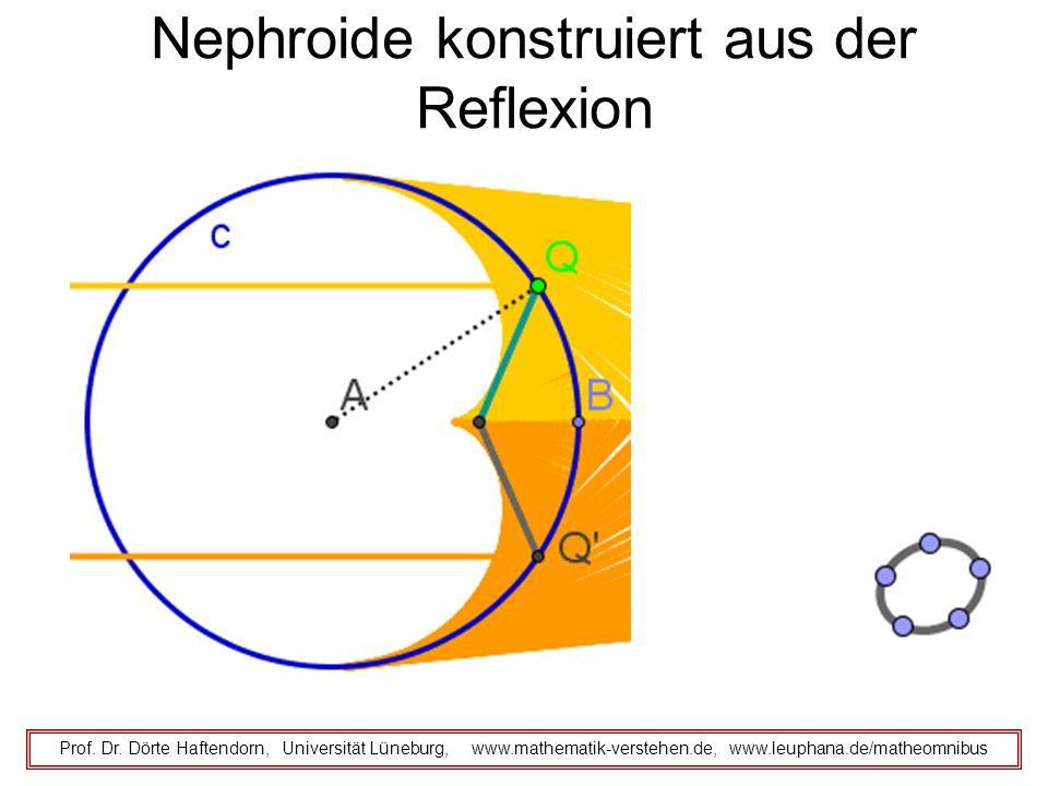 Nephroide konstruiert aus der Reflexion
