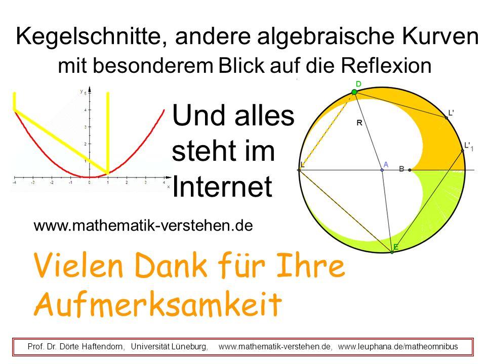 Kegelschnitte, andere algebraische Kurven