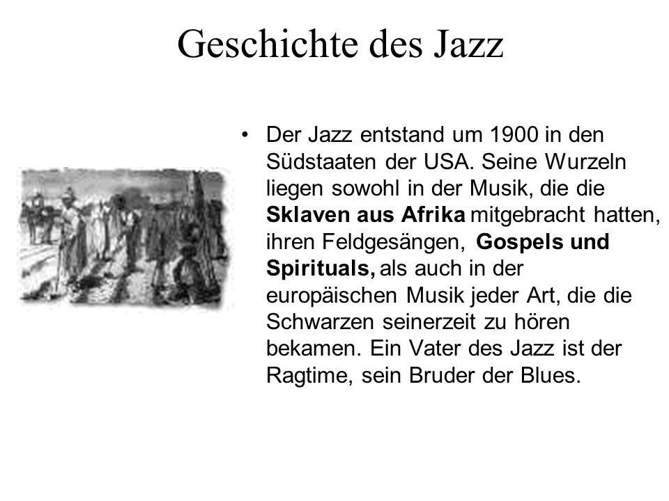 Geschichte des Jazz