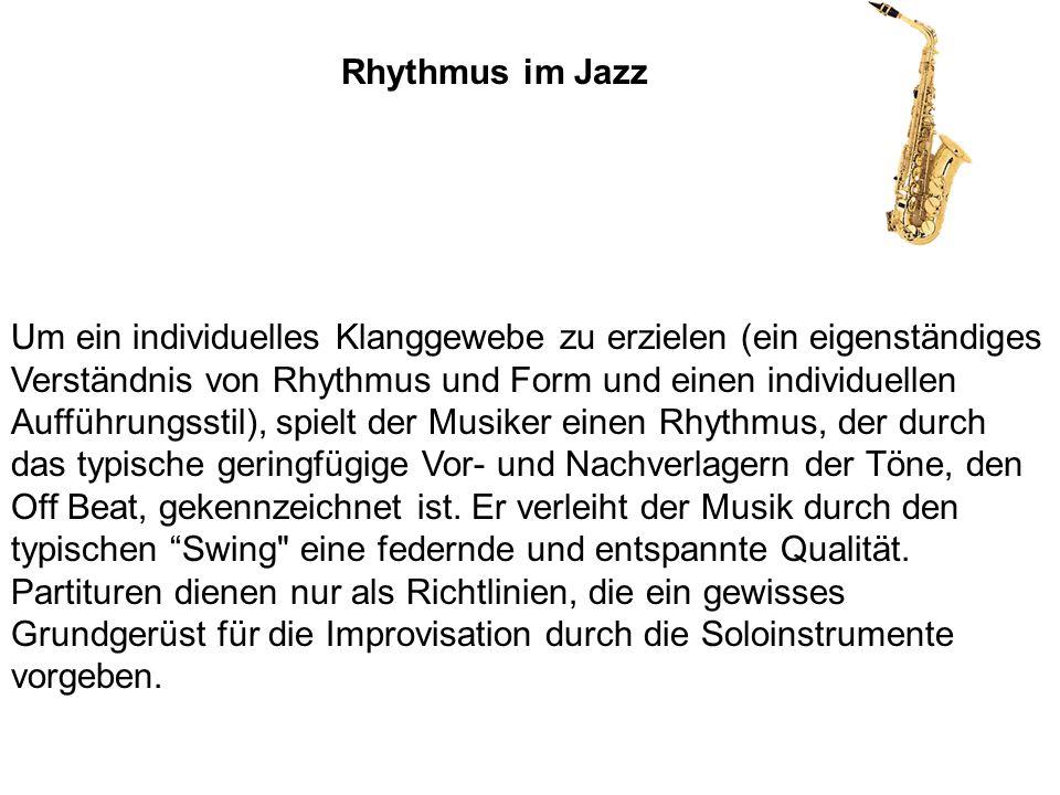 Rhythmus im Jazz