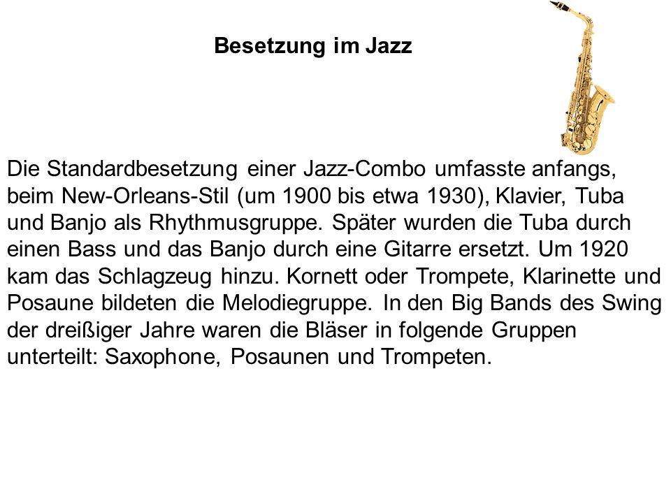 Besetzung im Jazz