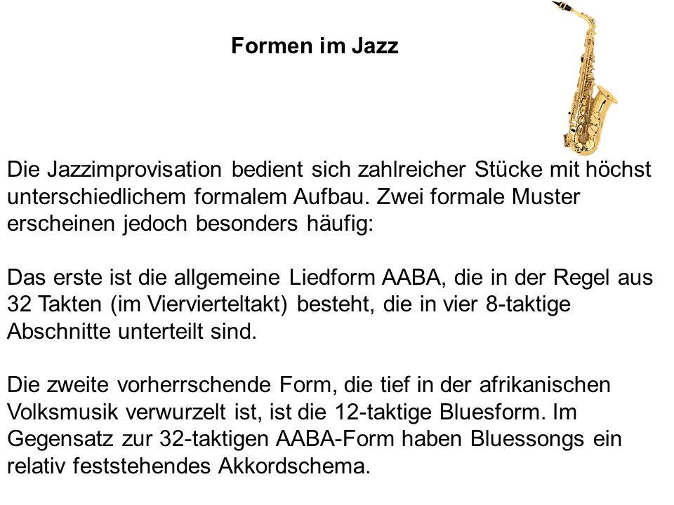 Formen im Jazz