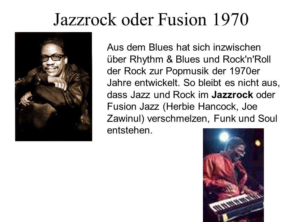 Jazzrock oder Fusion 1970