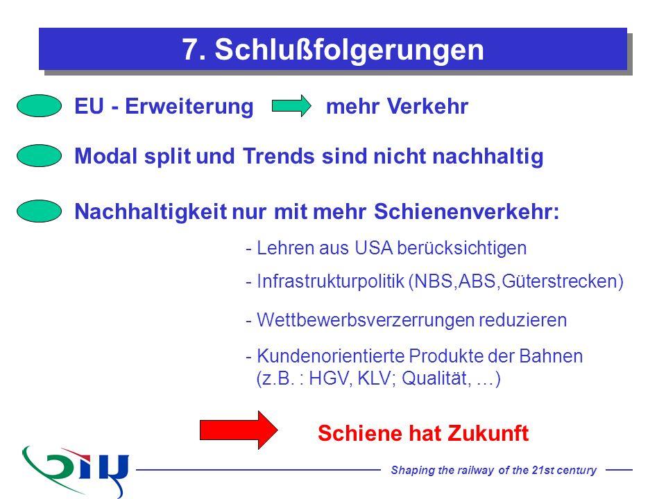 7. Schlußfolgerungen EU - Erweiterung mehr Verkehr