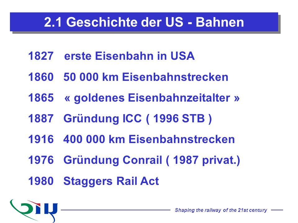 2.1 Geschichte der US - Bahnen