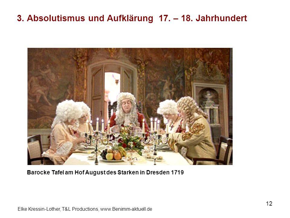 3. Absolutismus und Aufklärung 17. – 18. Jahrhundert