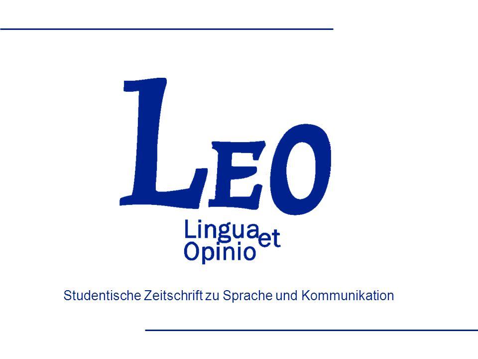 Studentische Zeitschrift zu Sprache und Kommunikation