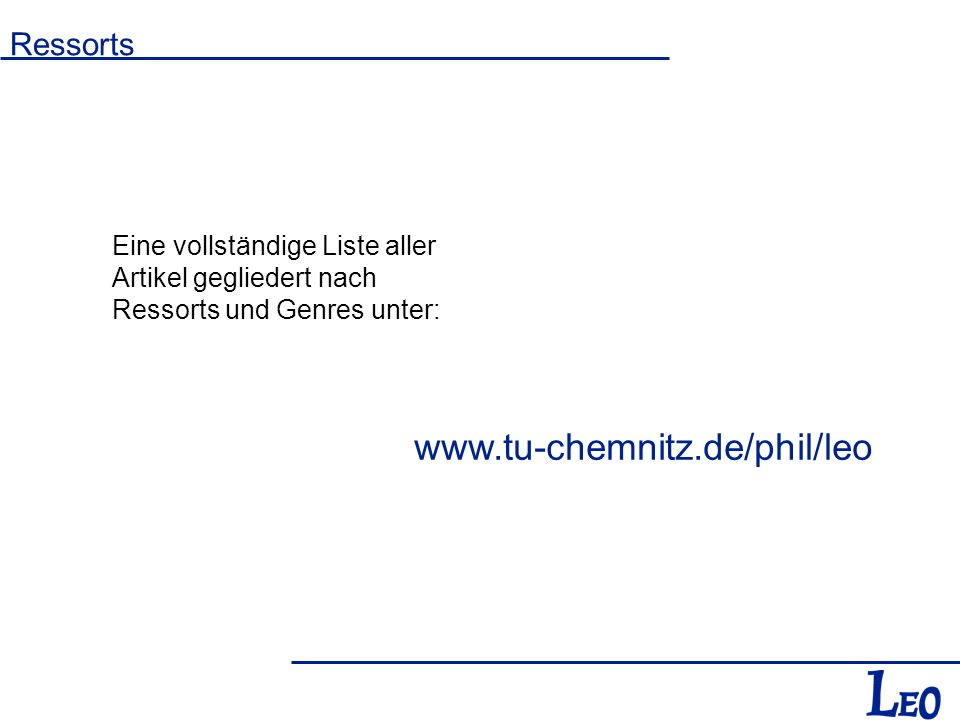 www.tu-chemnitz.de/phil/leo Ressorts
