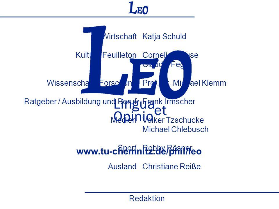 www.tu-chemnitz.de/phil/leo Herausgeber / ViSdLPG Politik Wirtschaft