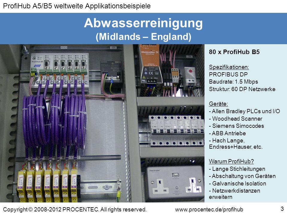 Abwasserreinigung (Midlands – England) 80 x ProfiHub B5
