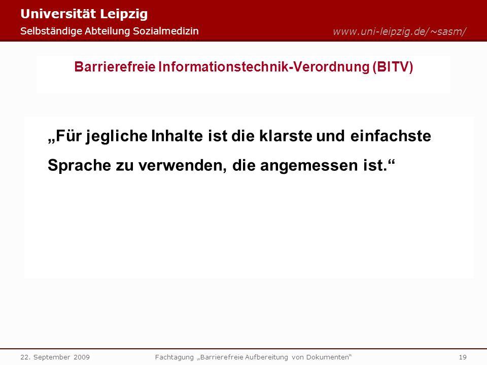 Barrierefreie Informationstechnik-Verordnung (BITV)