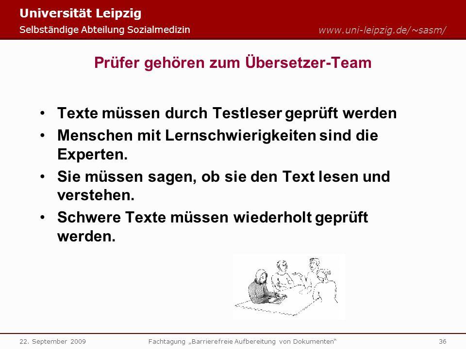 Prüfer gehören zum Übersetzer-Team