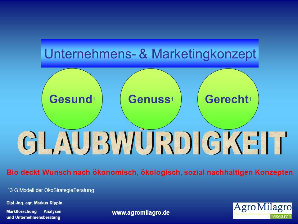 Unternehmens- & Marketingkonzept