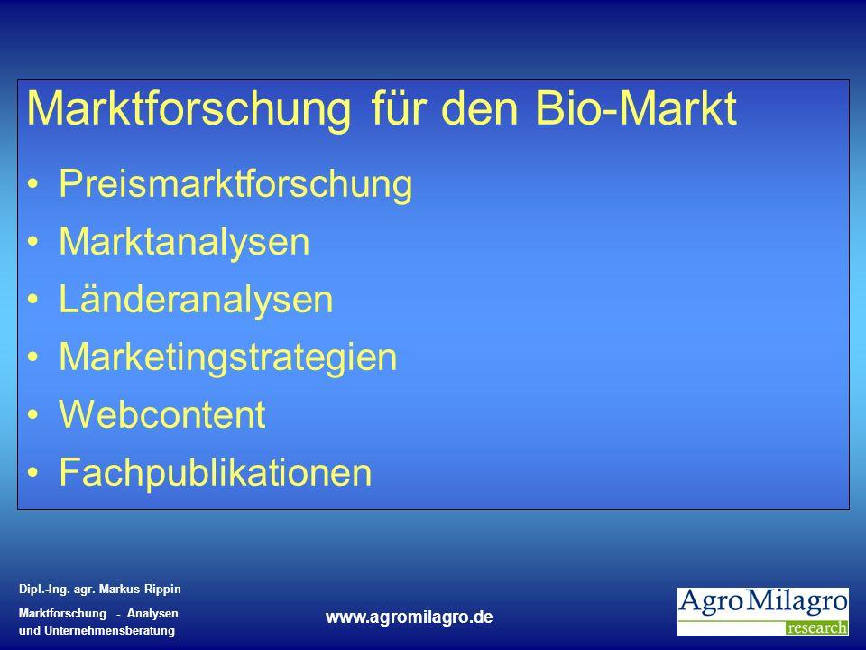 Marktforschung für den Bio-Markt