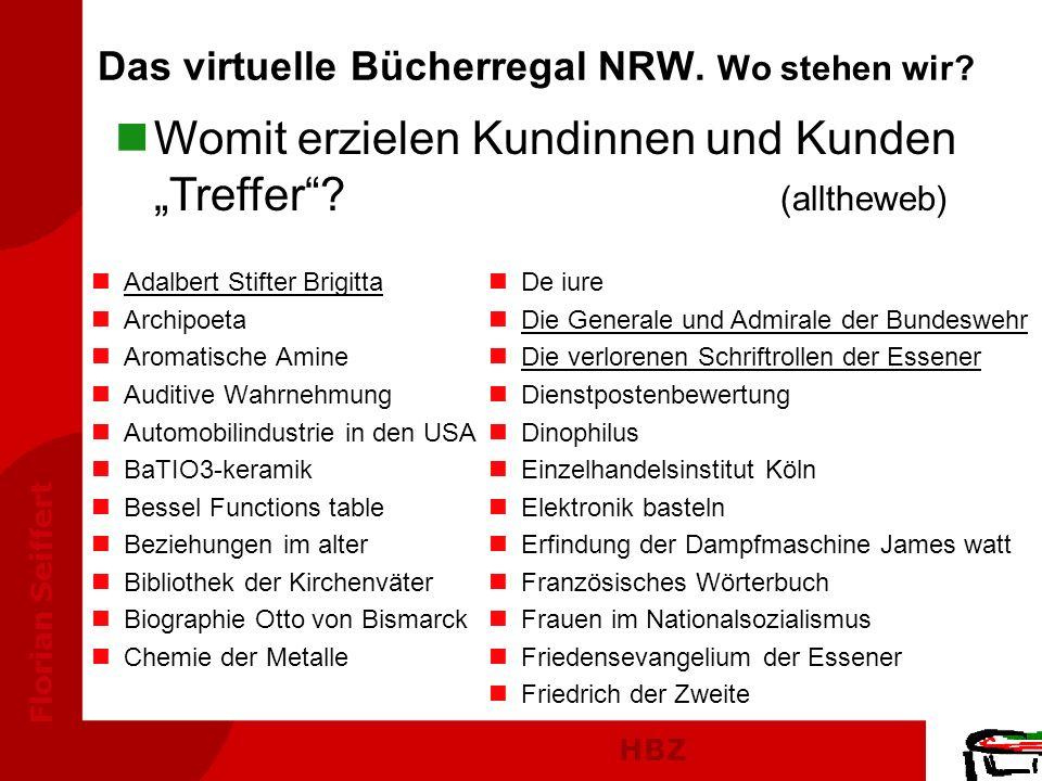 Das virtuelle Bücherregal NRW. Wo stehen wir