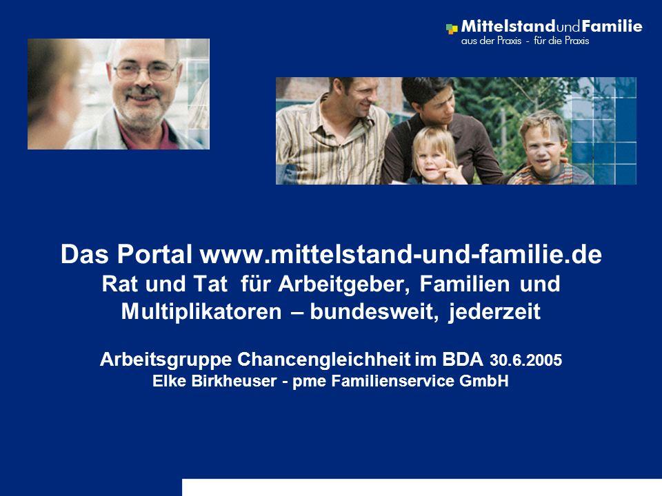 Das Portal www. mittelstand-und-familie